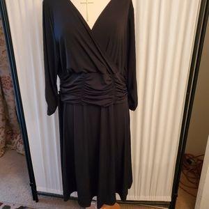 Rugged black dress.